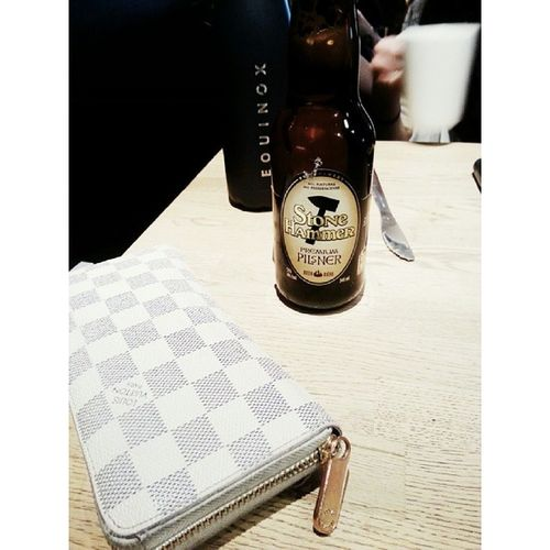 Lunchtime beers with Kaitlansface Louisvuitton Beers