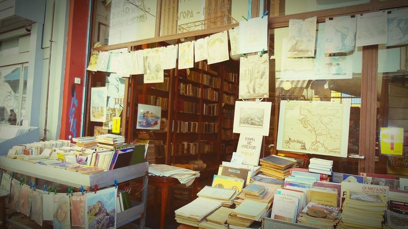 Beautyoftheday Walking Around Taking Photos Check This Out Old Book Shop Retro Historical Art Athens, Greece