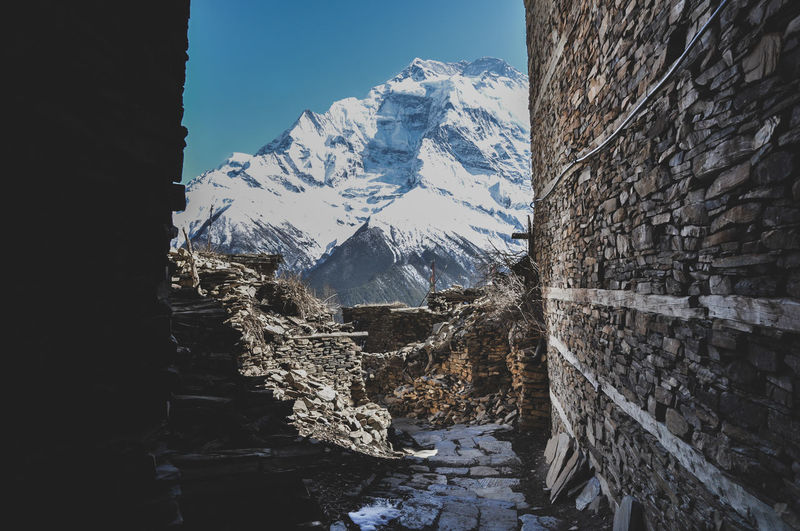 Annapurna Conservation Area Trekking Adventure Village Rural Scene Tree Mountain Snow Cold Temperature Winter Water Snowcapped Mountain Window Sky Mountain Range A New Beginning