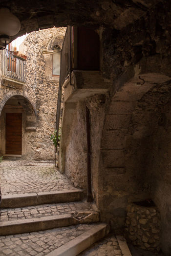 abruzzo village Abruzzo Antique Architecture Holiday Italia Nature Rural Stairs Travel Wood Balcony Historic Historical Italy Landscape Laquila Little Medieval Mountain Santostefanodisessanio Stone Story Tourism Town Village