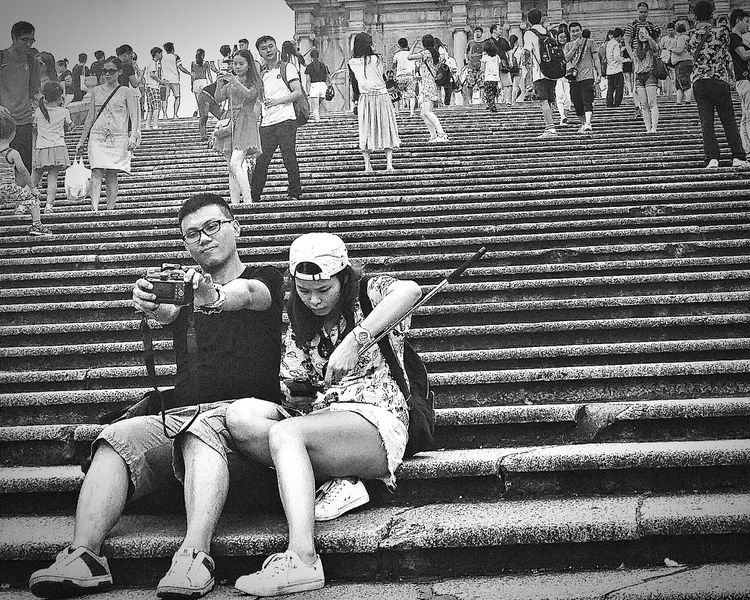 Ruins Of St.Paul's 68 Steps Tourists Selfie Landmark Macau UNESCO World Heritage Site Travelphotography Streetphotography