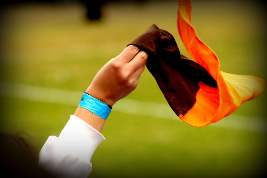 Alternative Fitness Day Flag Holding Human Finger Leisure Activity Lifestyles Outdoors Selective Focus Soccer SUPPORT