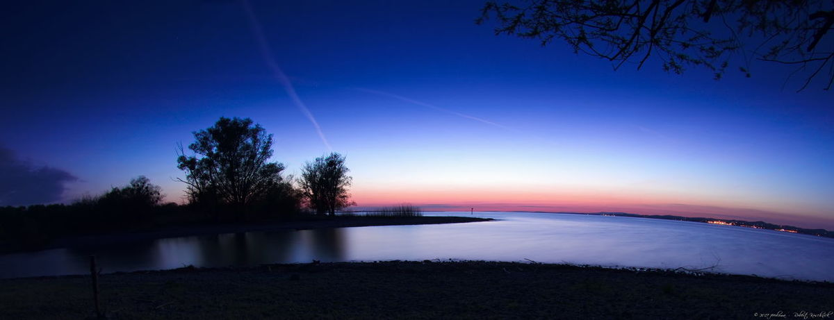 Deutschland Lake Of Constance Beauty In Nature Blue Bodensee Clear Sky Dusk Germany Lake Nature Night No People Outdoors Reflection Scenics Silhouette Sky Star - Space Sunset Tranquil Scene Tree Water EyeEmNewHere