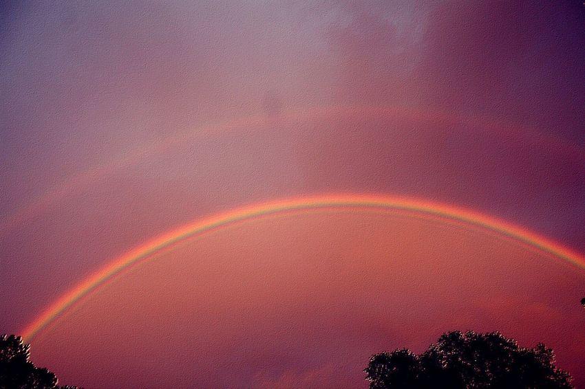 Double Rainbow Rainbow Sky Sky Naturelovers EyeEm Nature Lover Rainbowsunset Nature_collection Rainbows