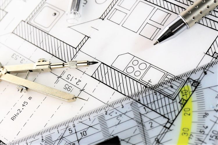 An concept Image of a constuction plan Architecture Home Architecture Blueprint Close-up Concept Design Diagram Geometry House Indoors  Interior Interior Design No People Paper Plan
