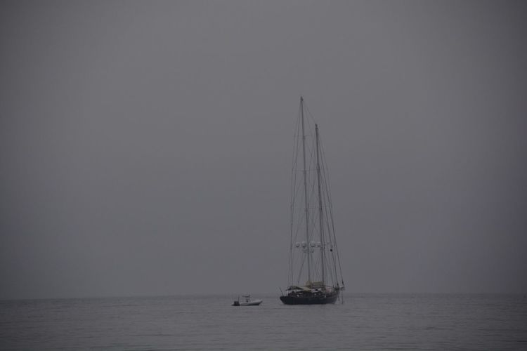 Nautical Vessel Sea Sailing Horizon Over Water Sailboat Scenics Beauty In Nature