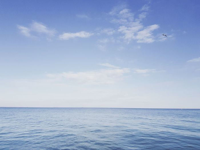 Sea Tranquility Blue Scenics Sky Nature Landscape Beauty In Nature Tranquil Scene Water Beach Idyllic Outdoors Cloud - Sky Horizon Over Water Day No People Summer Sand Vacations