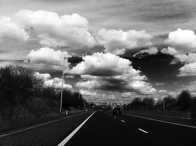 Beauty In Nature Cloud Cloud - Sky Cloudy Country Road Day Diminishing Perspective Empty Empty Road Landscape Nature No People Non-urban Scene Outdoors Overcast Road Road Marking Scenics Sky The Way Forward Tranquil Scene Tranquility Transportation Vanishing Point Weather