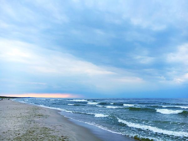 Baltic Sea Beach Sea Waves Sky And Clouds Clouds And Sky Storm Clouds Stormy Weather Nature Sunset Dangerous Dangerous Weather IPhone Finding New Frontiers