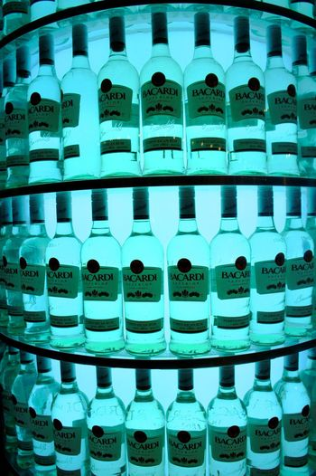 The White Rum Bacardi  Booze Bottles Branded Display EyeEm EyeEm Gallery Factory Famous Intoxicating  Liquor Manufacturing Party Time Puerto Rico Rack Rum San Juan White Rum Original Experiences