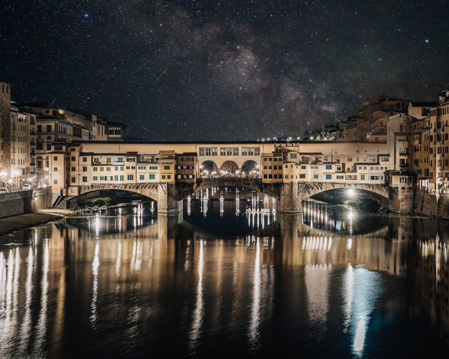 Ponte avec chip at night under the stars