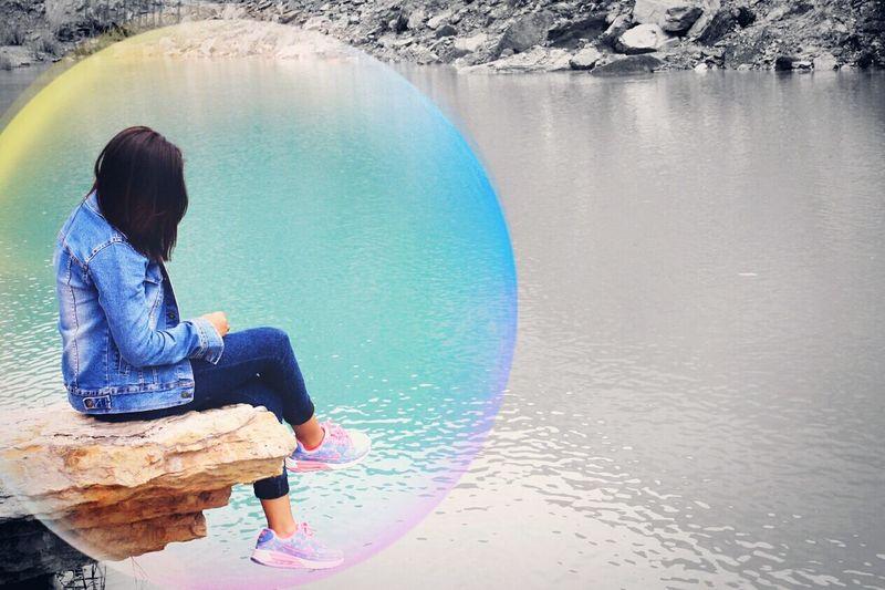 Danaubiru Pengaron Hi! Banjarmasinbungas Kalimantanpunya Enjoying Life Alone Banjarmainbungas Kalimantanselatan Relaxing