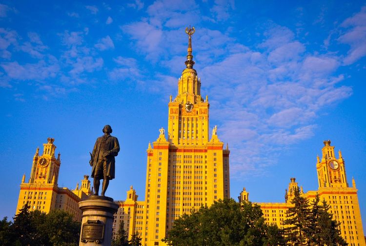 University Blue sky Blue Sky Historical Building University At Moscow Golden Hour Hello World