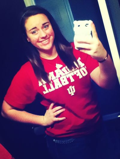 Reppin' IU Softball Today.