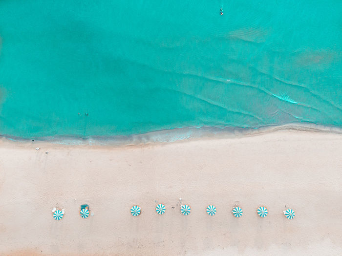 Aerial view of blue sea