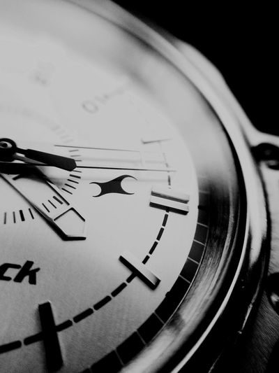 Wristwatch Titan Fast Track Macro IPhoneography 5s Black And White