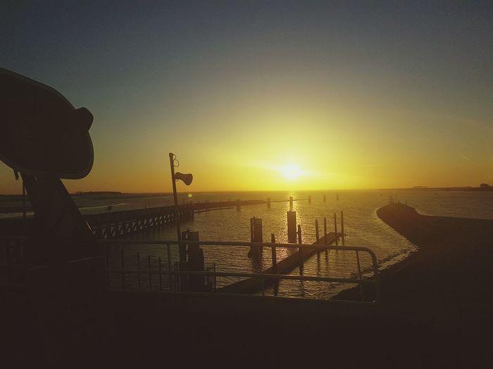 Sunrise Beach Sea Busride Docks Moving Shot Galaxy S7 Nature Meets Man Beautiful Day