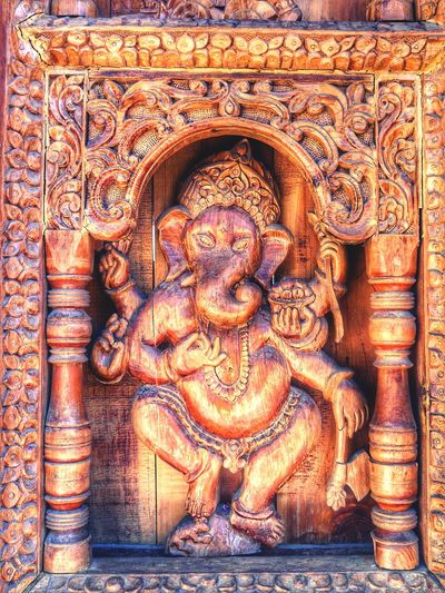 Religion Carving - Craft Product Spirituality Statue No People Close-up Sculpture India Religious  Wood Wood - Material Wooden Texture Wood Curvings Ganesha EyeEmNewHere