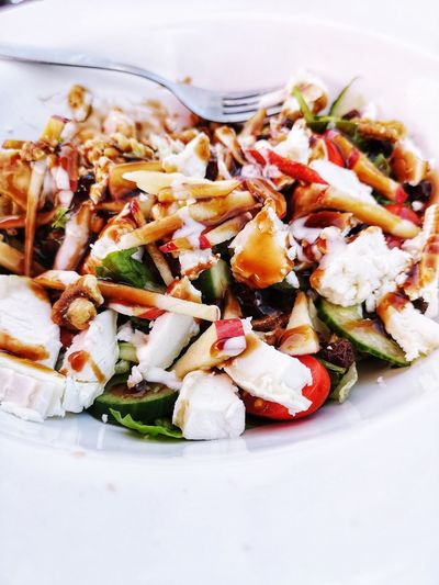 Salad madness Healthy Lifestyle Healthy Food Healthy Eating Salad Time Food Foodphotography Greek Food Vegetarian Food Plate Appetizer Seafood Vegetable Close-up Food And Drink Mediterranean Food Greek Salad Feta Cheese Salad Bowl Salad Arugula