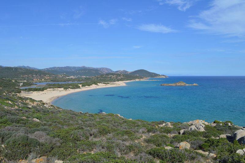 Basta poco per star meglio... Sea Scenics Water Beauty In Nature Blue Nature Beach Sky Coastline Outdoors Taking Photos See The World Through My Eyes Nikon Bay Sardegna Sardinia Loveit
