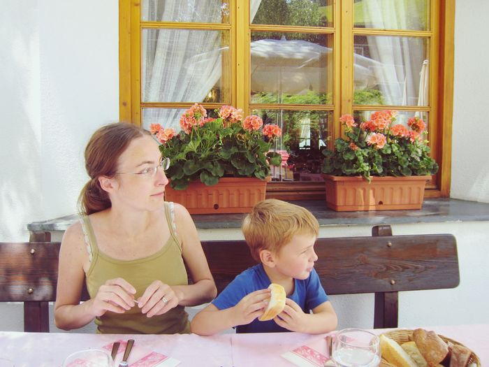 Mom and son Childhood Child Family Togetherness Two People Boys This Is Family Offspring Table Window