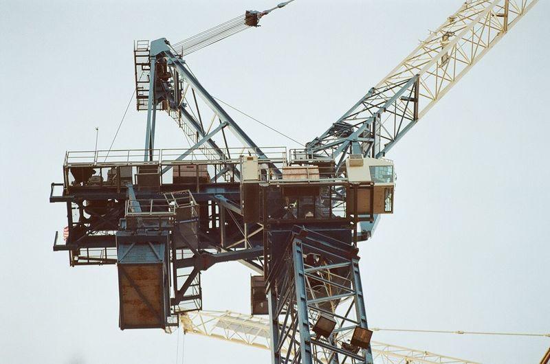Low angle view of crane
