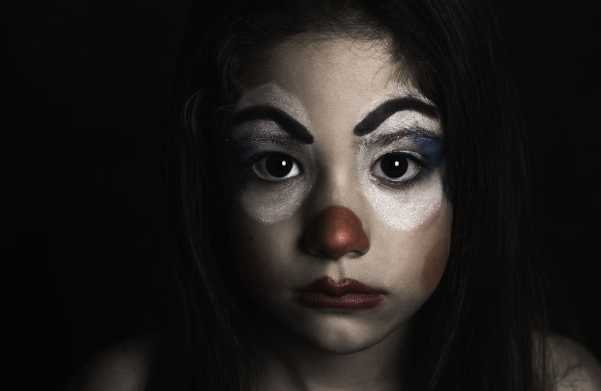 Clown Girl Clown Face Portrait Black Nikonphotography Nikon Performance Portait Photography