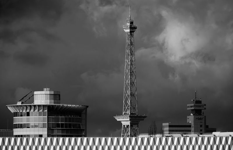 before the thunderstrom Architecture Berlin Charlottenburg  Clouds Culture Dramatic Dramatic Sky Engineering Famous Place Funkturm Gewitter International Landmark Low Angle View Metal Metallic Modern No People Outdoors Schlechtes Wetter Sky Technology Thunderstorm Tower Weather Wolken