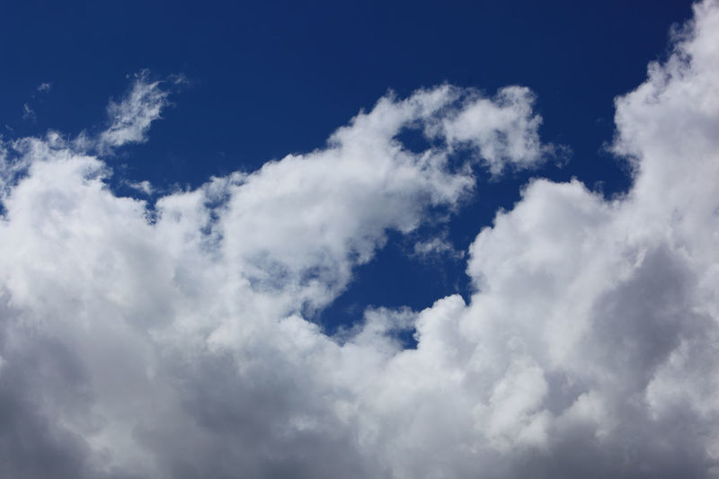 clouds in the sky, rain clouds, low pressure area Backgrounds Beauty In Nature Blue Cloud - Sky Cloudscape Day Environment Full Frame Heaven High Idyllic Low Angle View Meteorology Nature No People Outdoors Rain Clouds Scenics - Nature Sky Tranquil Scene Tranquility White Color