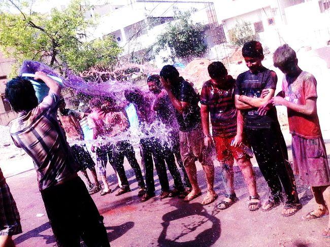 Colorful Colour Splash Watercolours Holi Indian Festival EyeEm Best Edits EyeEm Gallery Funtimeswithfriends Water Splash! Enjoying Life With Friends