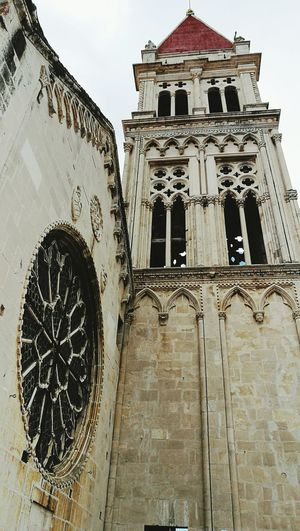 Architecture Building Exterior Low Angle View Travel Destinations No People History Clock Tower Trogir
