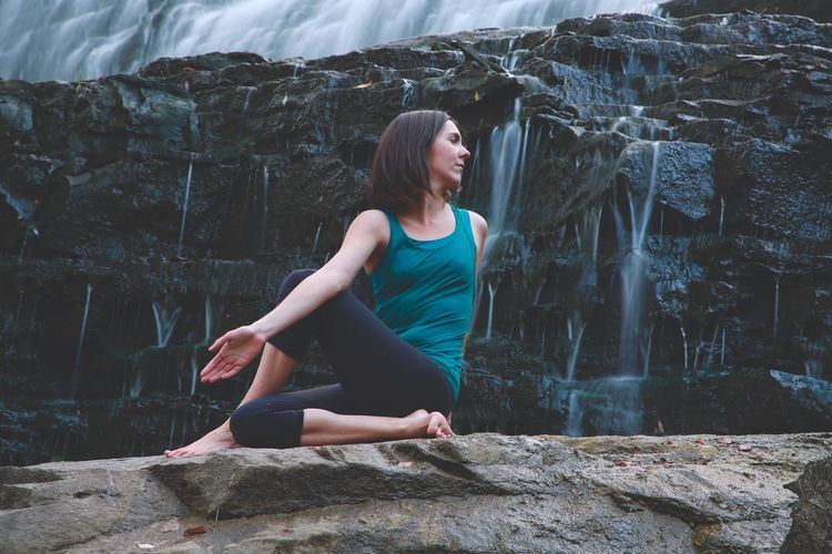 Great Yoga with my talented client and friend Lindsay. Awesome adventure to get this shot. I just wish it was a bit warmer Waterfall Check This Out