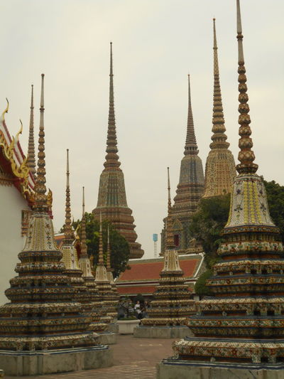 Architecture Building Exterior Day Jhedi Outdoors Place Of Worship Religion Sky Spirituality Travel Destinations Wat Pho