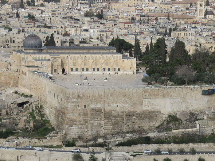 High angle view of western wall