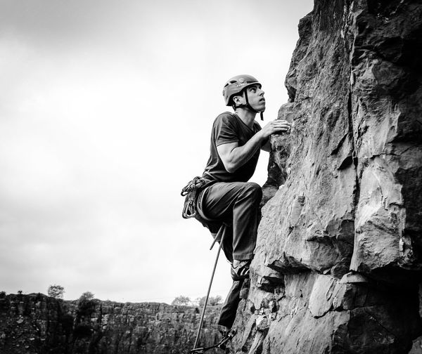 Rock Climber Climbing Blackandwhite Blackandwhite Photography Outdoors Sports Photography The Great Outdoors - 2016 EyeEm Awards Adventure Club