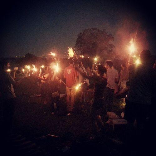 Sparklers have shown up Philadelphia Belmontplateau Fairmountpark