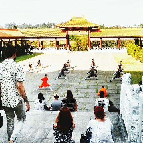 Temple Zu Lai Large Group Of People Real People Leisure Activity Lifestyles Day Outdoors People