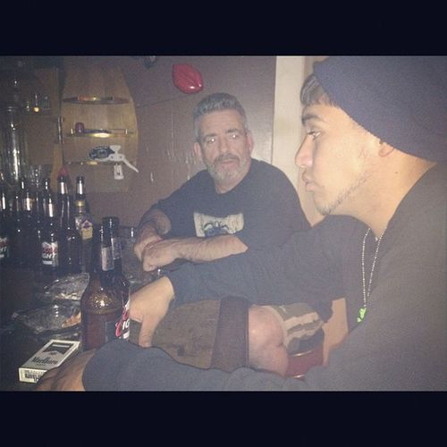 Uncle Richie and Eddie time. @ his bar. :) do I have to go home?! Family Love Newyork Homeiswherefamilyis