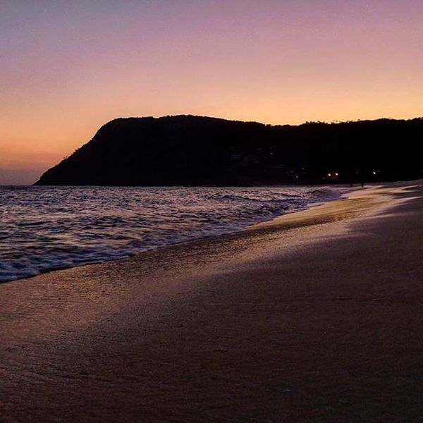 Cai a noite em itacoa... Itacoatiara Niterói Nature Beach Sunset Nofilter