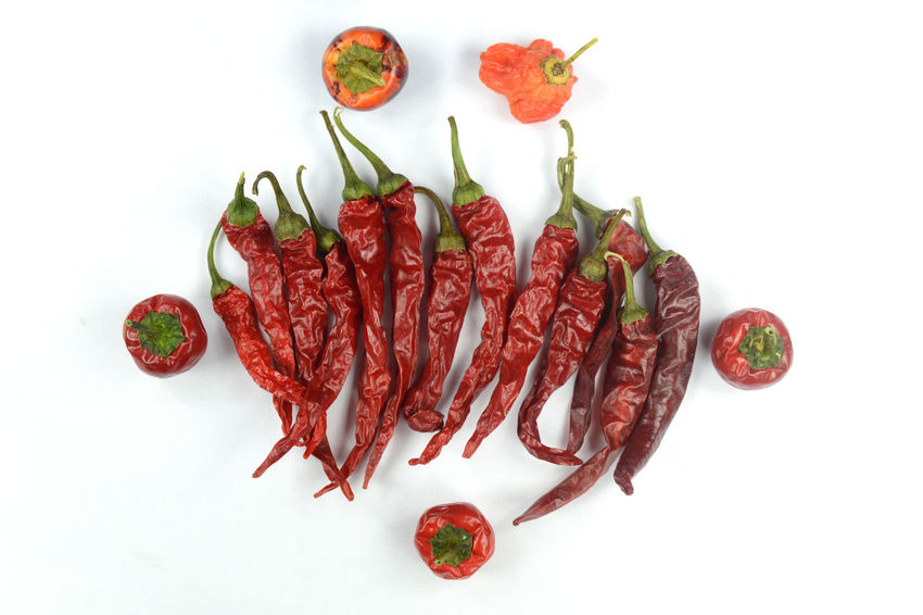 Cayenne Cayenne Pepper Chilli Close-up Copy Space Cut Out Directly Above Feferoni Food Food And Drink Freshness Fruit Healthy Eating High Angle View Indoors  No People Plate Red Red Hot Chilli Ripe Still Life Studio Shot Table Vegetable White Background