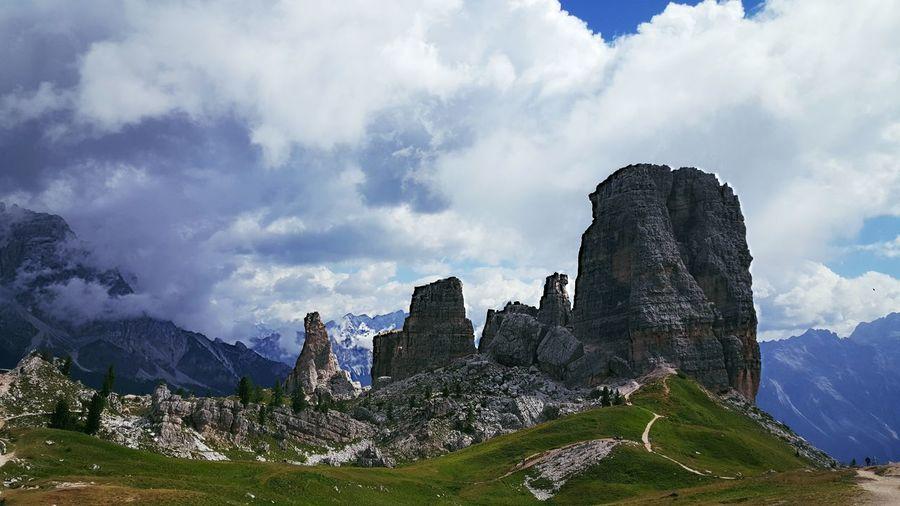 5 Torri Cortina D'Ampezzo Walking Around Mountains And Valleys Mountains Hiking Day 100th EyeEm Photo