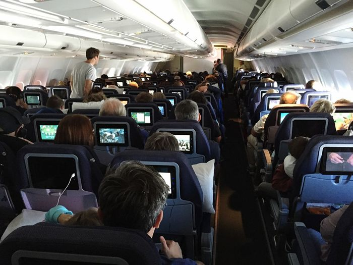 Consuming Media On The Plane EyeEm In NYC 2015