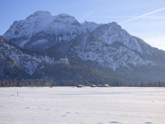 Bayern Cold Füssen, Bayern, Deutschland Landscape Mountain Nature Schloss Neuschwanstein View Snow Winter