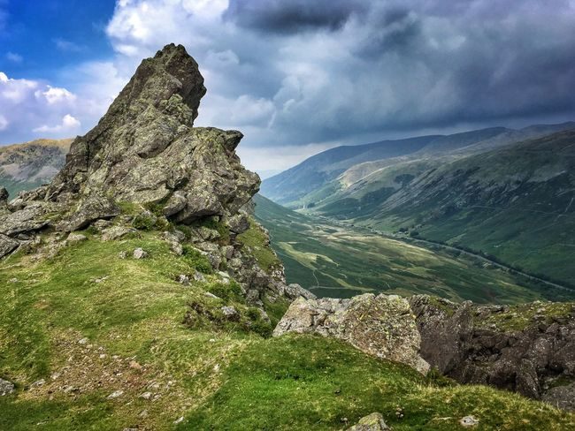 Helm Crag Lake District Summit View From The Top No People Travel Clouds Sky Landscape Hill Hills Mountains Mountain Cresmere Nature Hiking Exploring