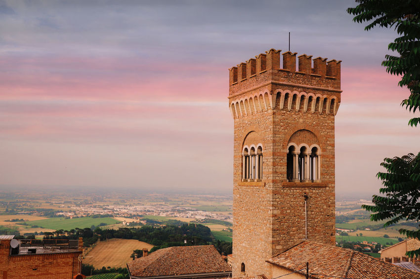 Castle Historical Building Historical Monuments Arch Architecture Bertinoro Building Building Exterior Built Structure City Cloud - Sky History Italy Nature No People Outdoors Religion Sky The Past Travel Destinations