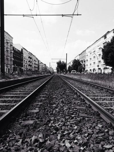 Railroad track on railroad track