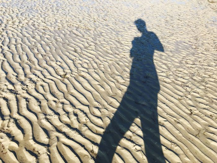 EyeEm Selects Shadow Sunlight Land Real People High Angle View Nature Focus On Shadow One Person Day Sand Beach Leisure Activity Pattern Outdoors Standing