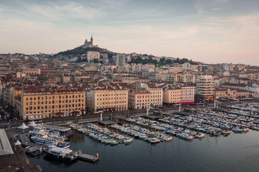 Marseille. Cityscape History Travel Destinations City Sky Outdoors Sunset Architecture No People Day