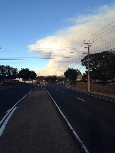 Summer Bushfire Mushroom Cloud Paradise Adelaide South Australia