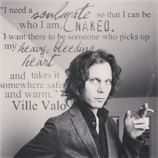 Villevalo Hisinfernalmajesty Him Heartagram lovemetal razorbladeromance love HIMquotes